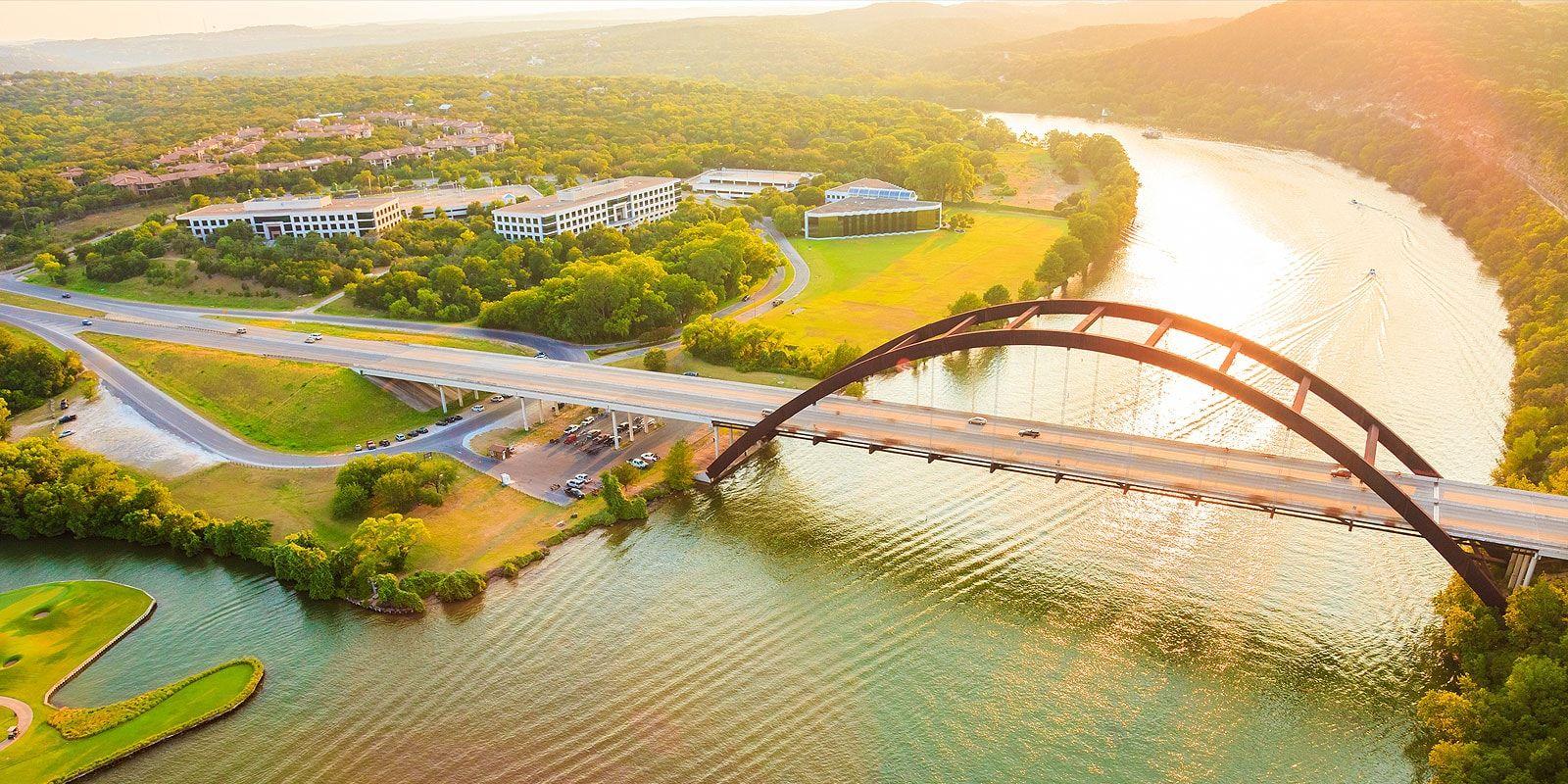 Aerial Shot of Pennybacker Bridge