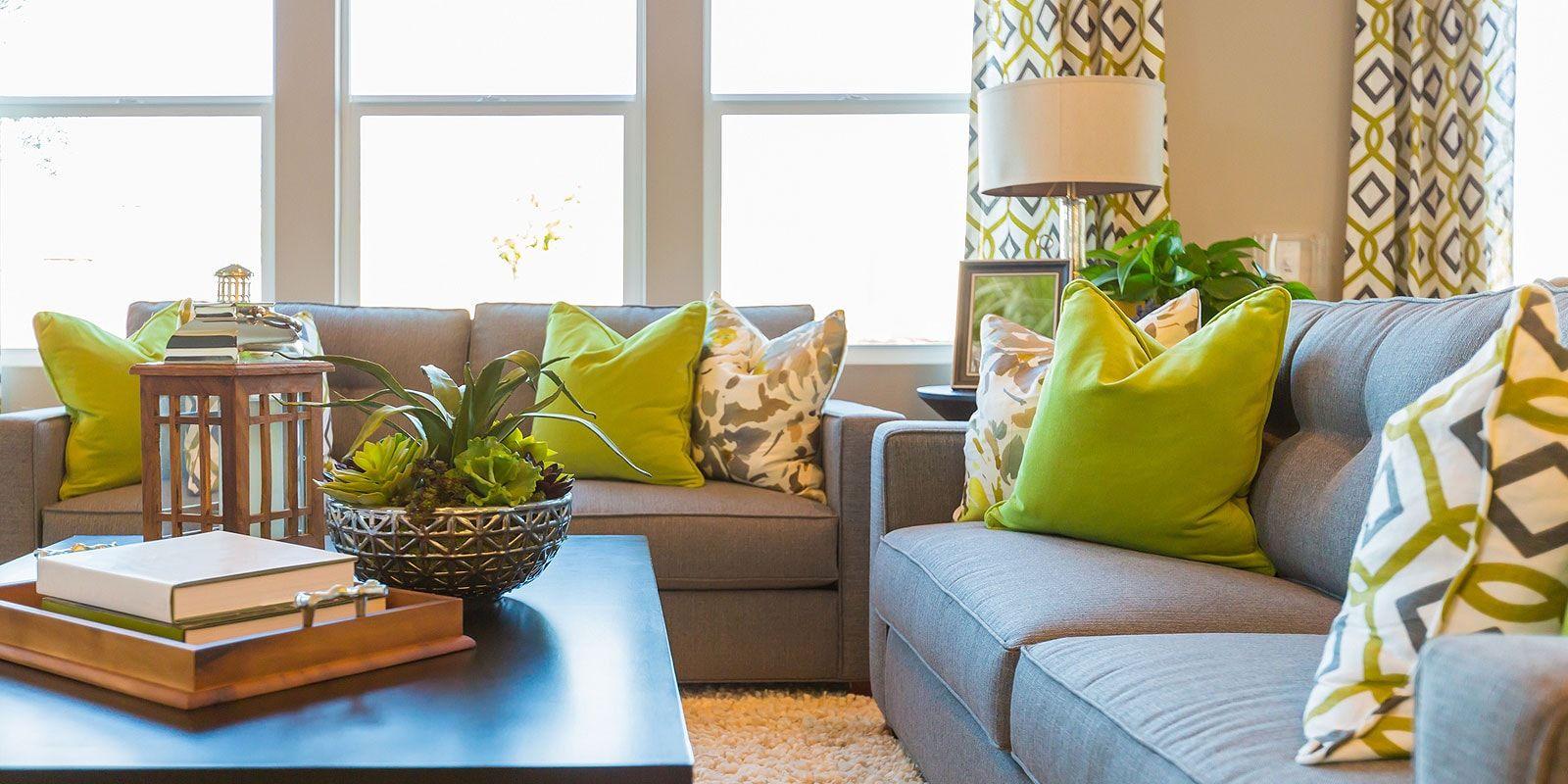 Comfortable Green Living Room