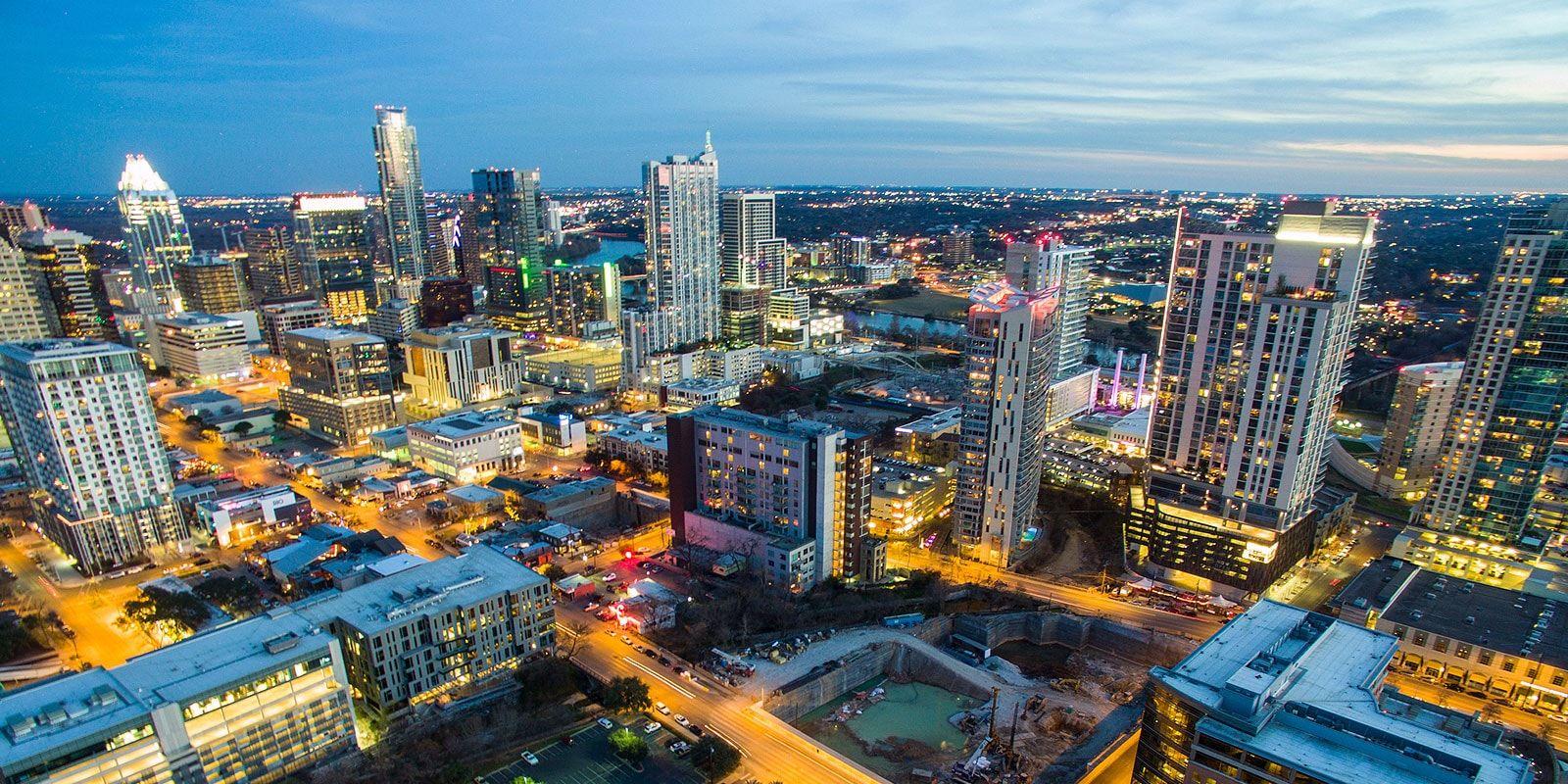 Night Cityscape of Austin